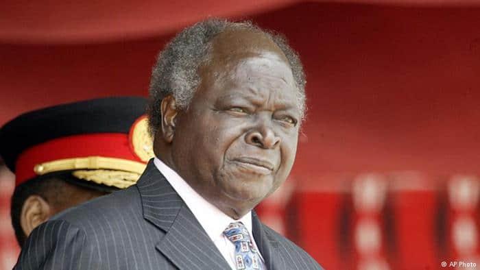 Former Kenyan President, Mwai Kibaki. Image Courtesy: AP