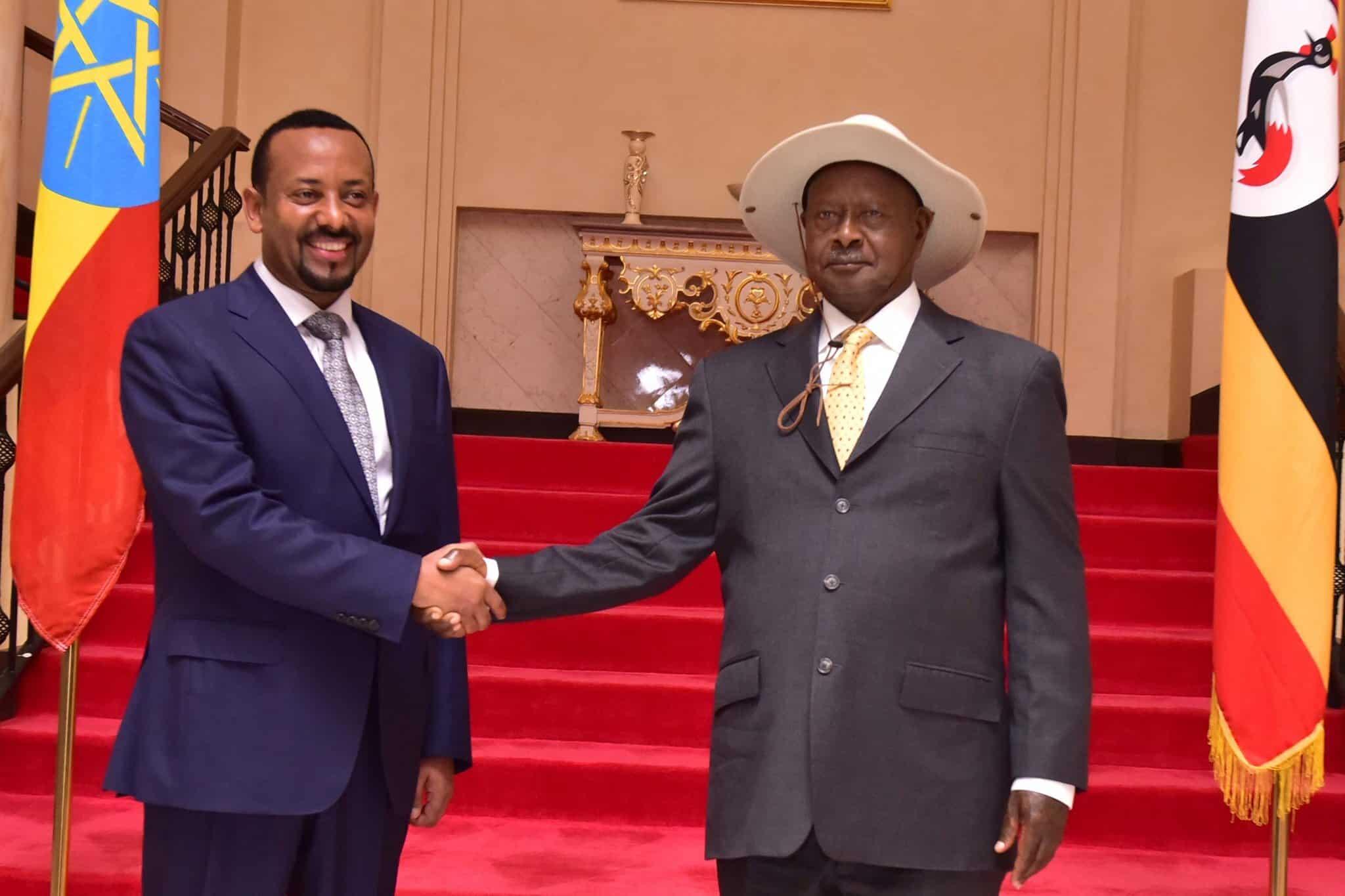 Yoweri Museveni and Abiy Ahmed. Source: Twitter.com/kagutamuseveni